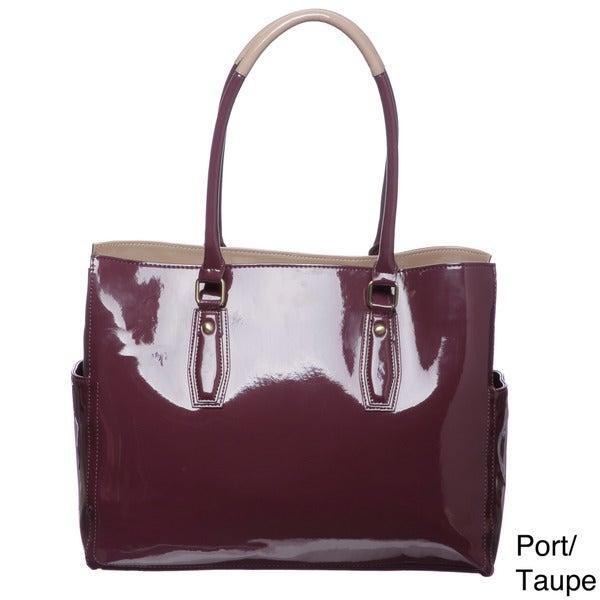 Mondani Sterling Patent Tote Bag