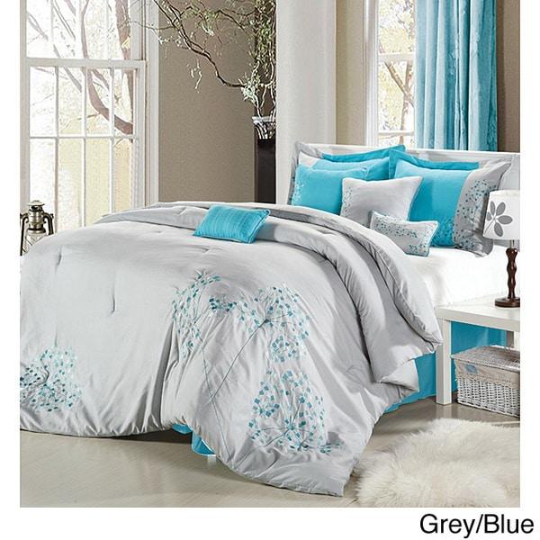 Floral 8-piece Comforter Set
