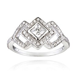 Icz Stonez Sterling Silver Cubic Zirconia Diamond-shaped Engagement Ring (1 1/4ct TGW) (5 options available)