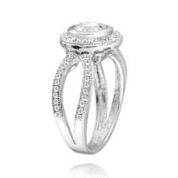 Icz Stonez Sterling Silver Cubic Zirconia Solitaire Engagement Ring (2 7/8ct TGW) - Thumbnail 1