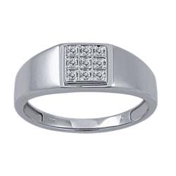 1/10 CTW White Diamond Men's Ring