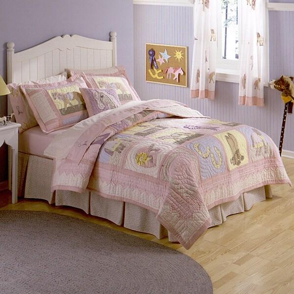 Giddy Up Applique Embellished 3-piece Quilt Set