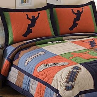 Cool Skate Applique 3-piece Quilt Set|https://ak1.ostkcdn.com/images/products/6774155/P14313900.jpg?impolicy=medium
