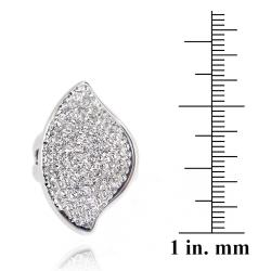 Icz Stonez Sterling Silver Clear Crystal Abstract Ring - Thumbnail 2
