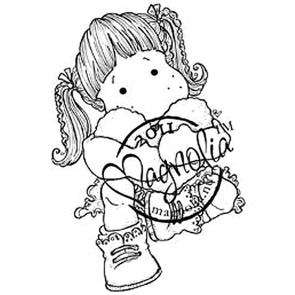 Sweet Crazy Love Cling Stamp-Tilda With Cozy Heart