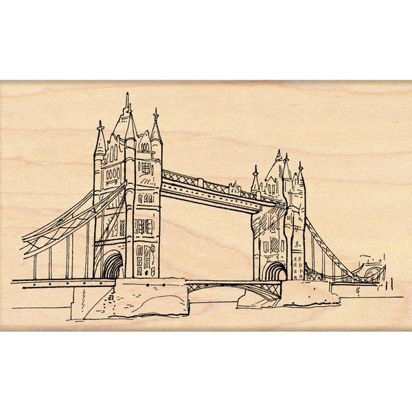 """Penny Black Rubber Stamp 2.75""""X4.5""""-The Tower Bridge"""