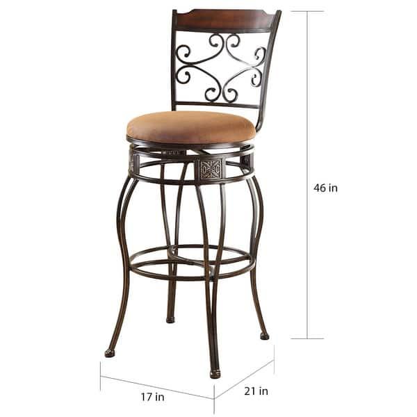Pleasing Shop Swivel Light Brown Bar Chair Set Of 2 Free Shipping Dailytribune Chair Design For Home Dailytribuneorg