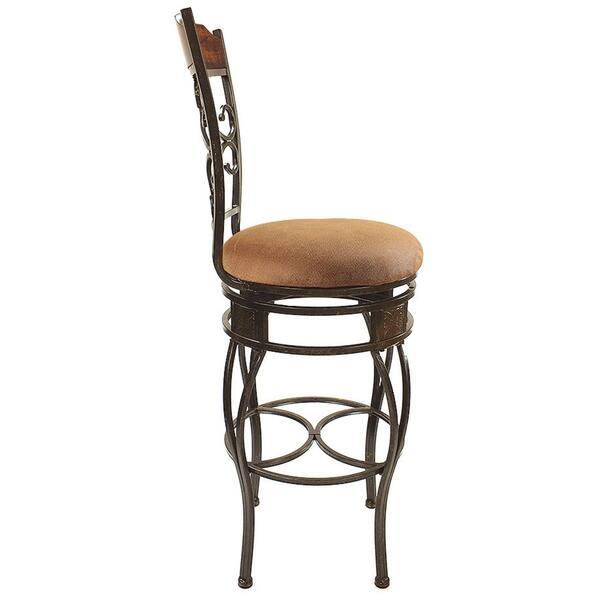 Fine Shop Swivel Light Brown Bar Chair Set Of 2 Free Shipping Dailytribune Chair Design For Home Dailytribuneorg