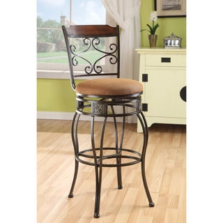 Swivel Light Brown Bar Chair (Set of 2)