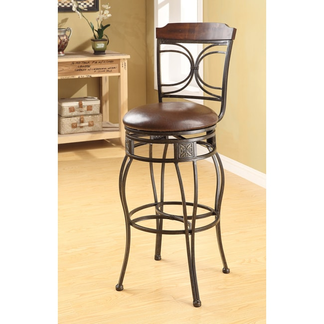 Swivel Espresso Bar Stool Set Of 2 Free Shipping Today