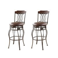 Swivel Espresso Bar Chair (Set of 2)