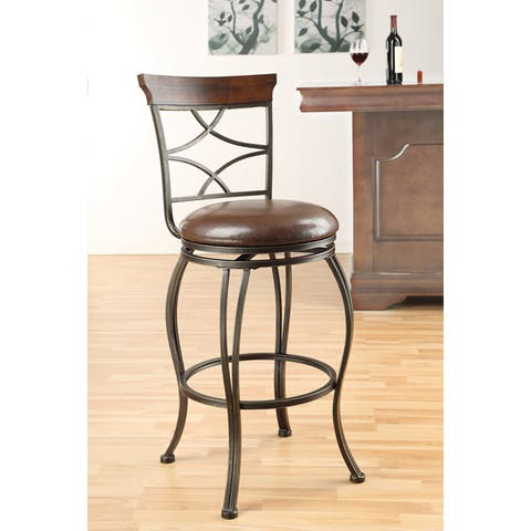 Copper Grove Abernethy Swivel Espresso Bar Chair (Set of 2)