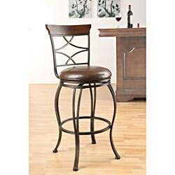 Copper Grove Abernethy Swivel Espresso Bar Chair (Set of 2)