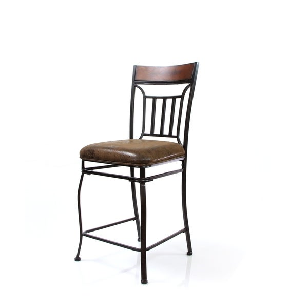 Tavio Saddle Brown Counter Height Chair (Set of 2)