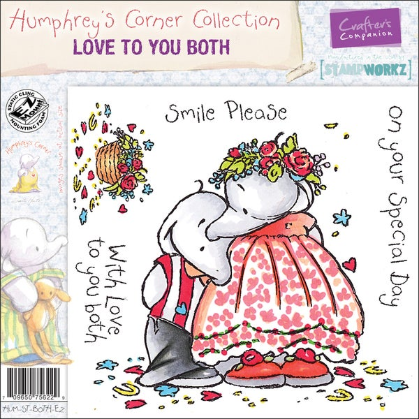 "Humphrey's Corner EZMount Cling Stamp Set 4.75""x4.75""-Love To You Both"
