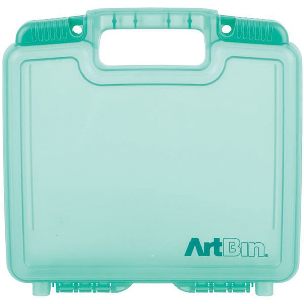 """ArtBin Quick View Deep Base Carrying Case-10.25""""X3.25""""X9.625"""" Translucent Teal"""