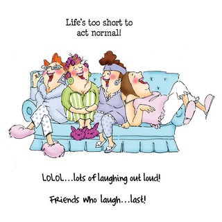 Art Impressions Girlfriends Cling Rubber Stamp-Comfy On The Couch Set