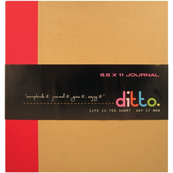 "Ditto Ring Chipboard Journal 8.5""X11""-Red"