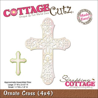 "CottageCutz Die 4""X4""-Ornate Cross Made Easy"