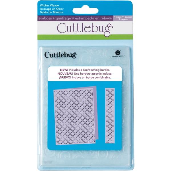 Cricut Cuttlebug 5x7 Embossing Folder/Border Set-Wicker Weave