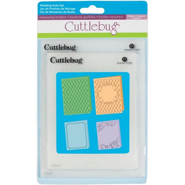 "Cricut Cuttlebug Embossing Folders 4/Pkg-Wedding (2) 5""X7"" & (2) A2"