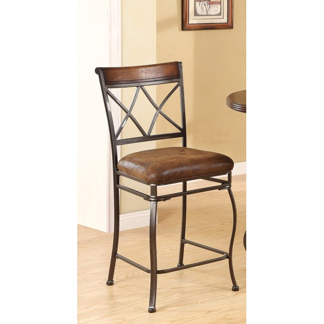 Tavio Saddle Brown Counter Height Chair Set Of 2 Free