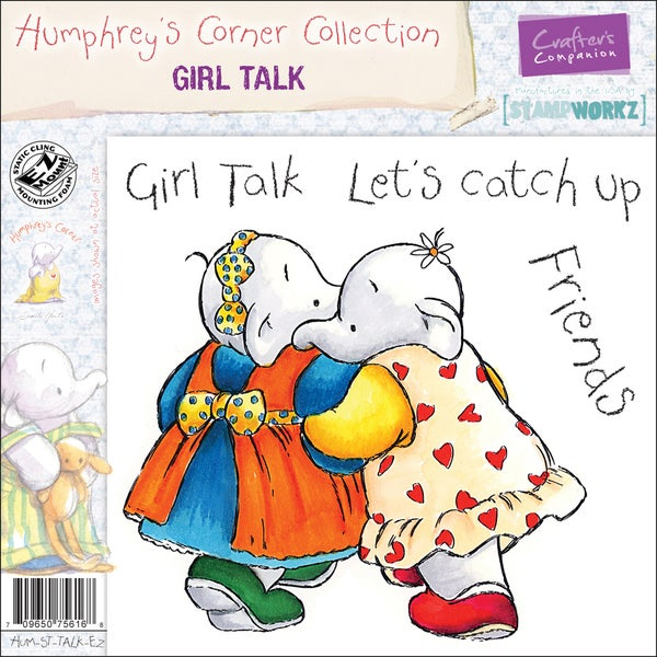 "Humphrey's Corner EZMount Cling Stamp Set 4.75""x4.75""-Girl Talk"
