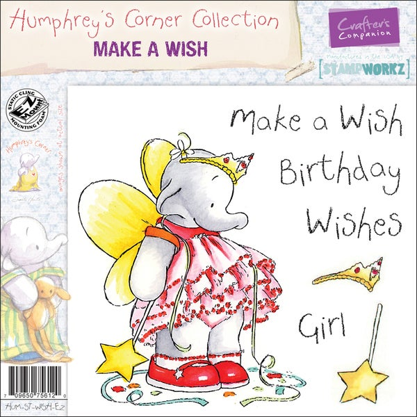 "Humphrey's Corner EZMount Cling Stamp Set 4.75""x4.75""-Make A Wish"