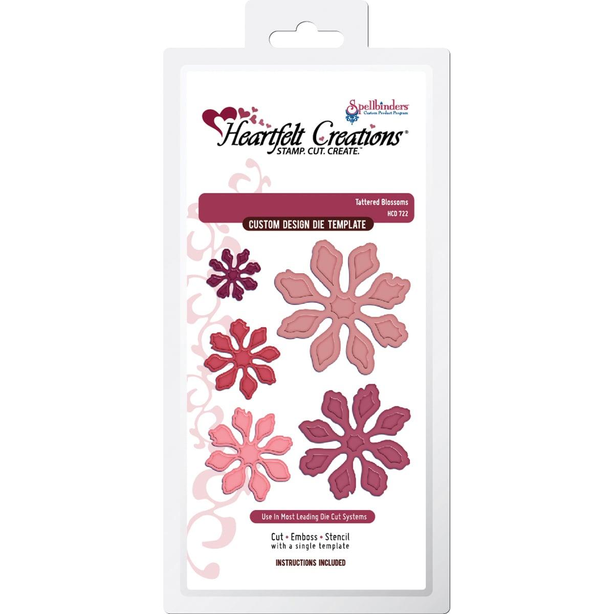 Heartfelt Creations Cut & Emboss Dies By Spellbinder's-Tattered Blossoms