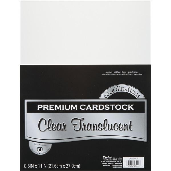 "Core'dinations Value Pack Cardstock 8.5""X11"" 50/Pkg-Vellum - Smooth"