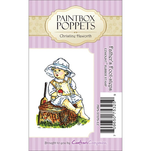 """Paintbox Poppets EZMount Cling Stamps-Father's Foot-Steps 1.75""""X2.5"""""""