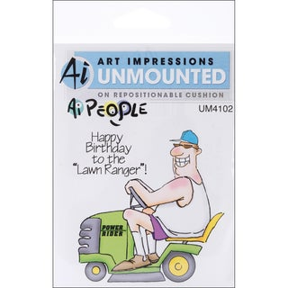 Art Impressions People Cling Rubber Stamp-The Lawn Ranger Set