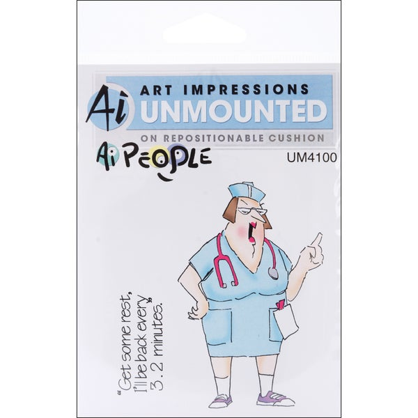 Art Impressions People Cling Rubber Stamp-Nurse Norma Set