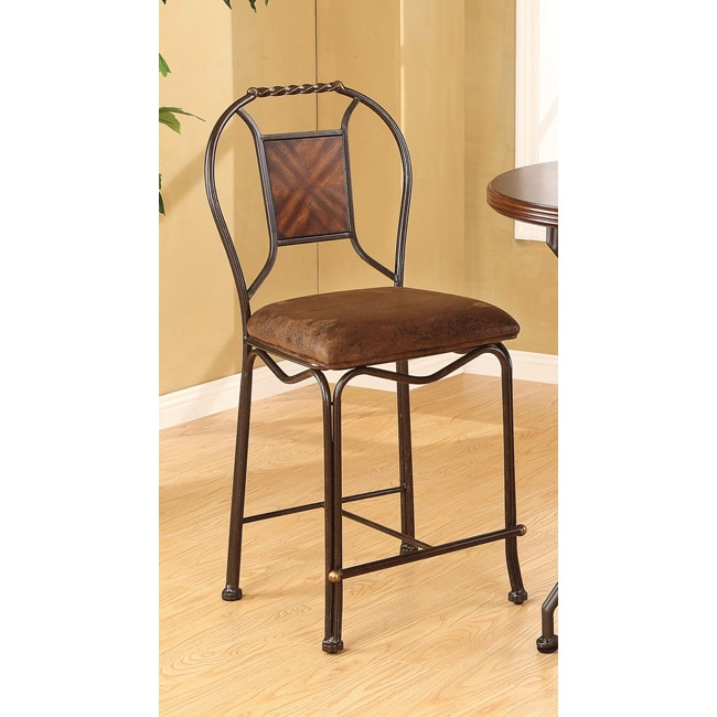 Tavio Saddle Brown Counter Height Chair (Set of 2)  sc 1 st  Overstock.com & Tavio Saddle Brown Counter Height Chair (Set of 2) - Free Shipping ... islam-shia.org