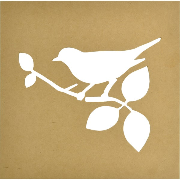 "Beyond The Page MDF Silhouette Wall Art 12""X12"" Frame-Bird, 9.5""X7"" Cut-Out Opening"