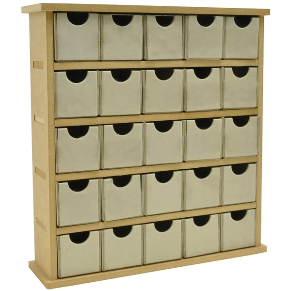 "Beyond The Page MDF Mini Treasure Chest/25 Chip Drawers-2.25""X9""X9.75"" (60mm X 230mm X 250mm)"