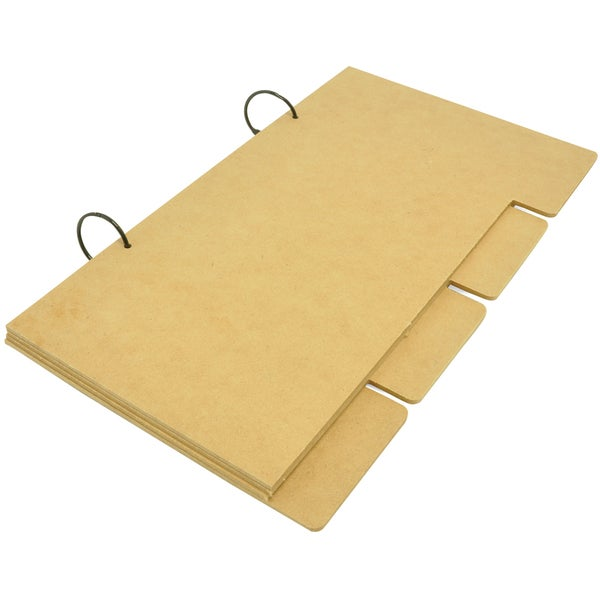 """Beyond The Page MDF Long Tabbed Album-12""""X7"""" With 4 MDF Pages"""