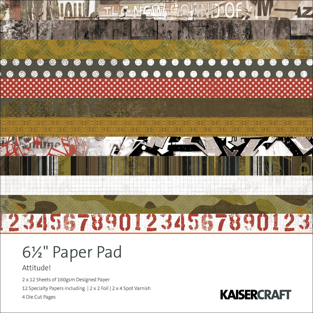 "Attitude! Paper Pad 6.5""X6.5"" 40 Sheets"