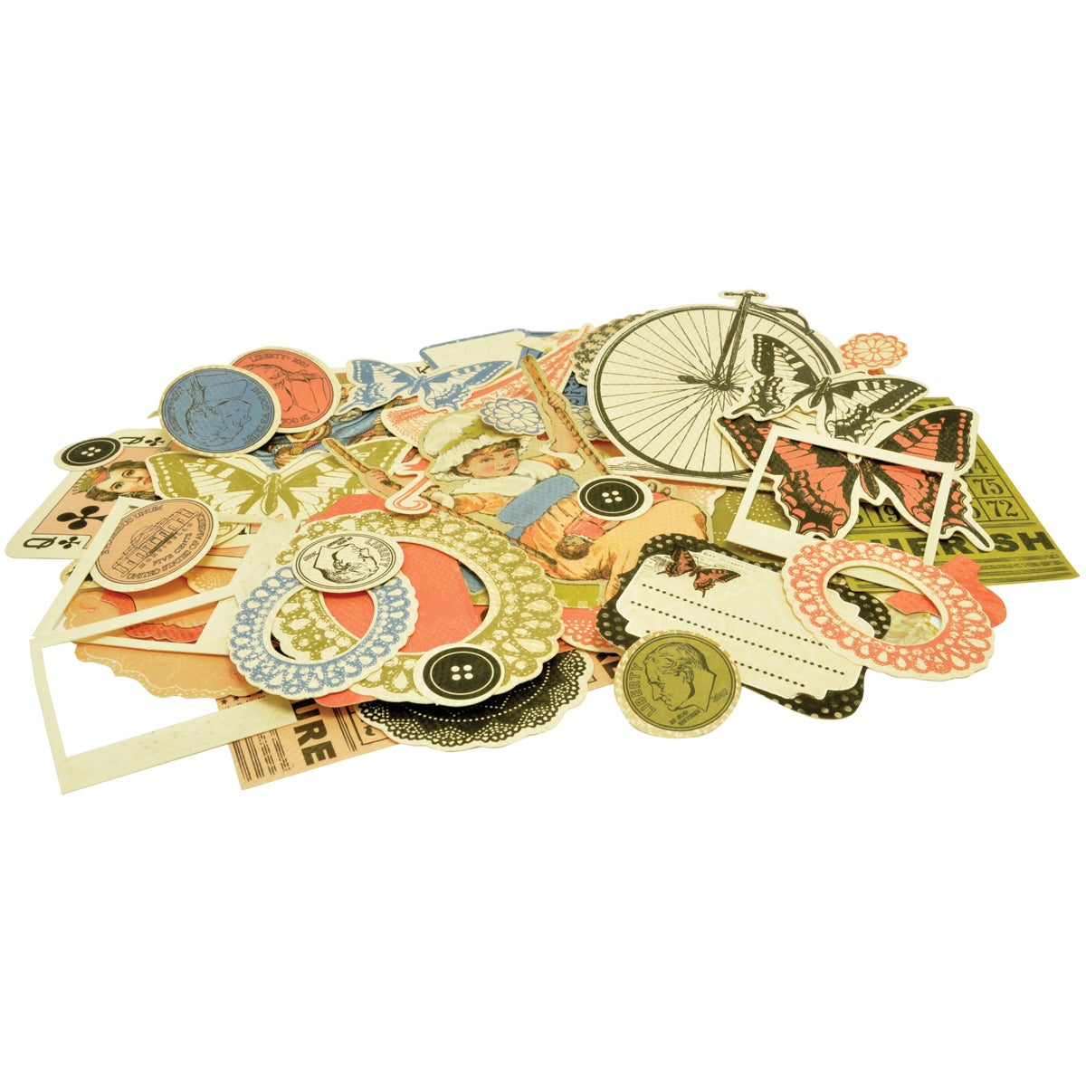 KAISERCRAFT Miss Match Collectables Cardstock Die-cuts 46/Pkg