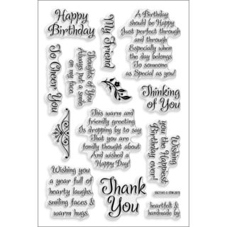 Stampendous Perfectly Clear Acrylic Sheet-friendly Phrase Stamps (4 x 6)