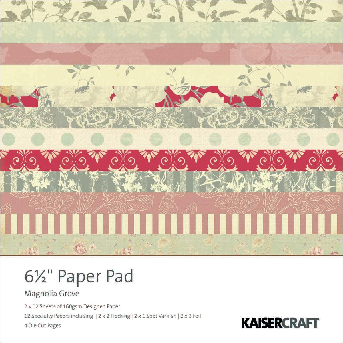 """Magnolia Grove Paper Pad 6.5""""X6.5"""" 40 Sheets"""