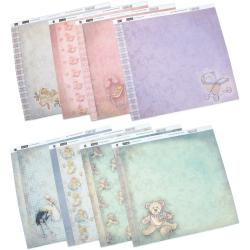 "Vintage Baby Double-Sided Paper Assortment 12""X12"" 16/Sheets-2 Each Of 8 Designs"