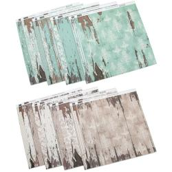"Shabby Chic Double-Sided Paper Assortment 12""X12"" 16 Sheets-2 Each Of 8 Designs"