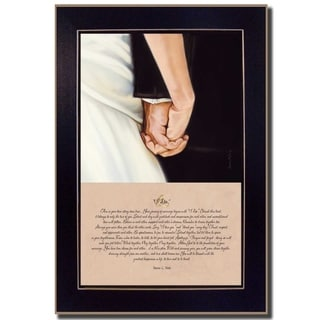 """I Do"" by Bonnie Mohr Printed Framed Wall Art"