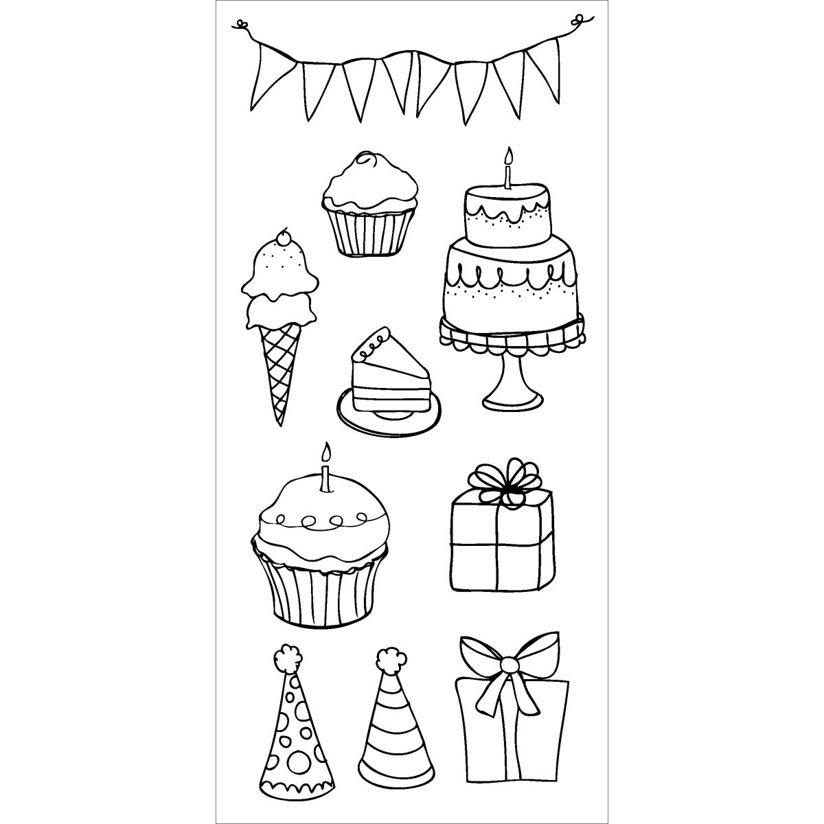 Claudine Hellmuth Clear Stamps-Party Time