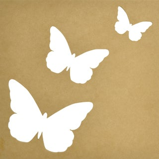 """Beyond The Page MDF Silhouette Wall Art 12""""X12"""" Frame-Flutter 3""""X2"""" To 6""""X5"""" Cut-Out Openings"""