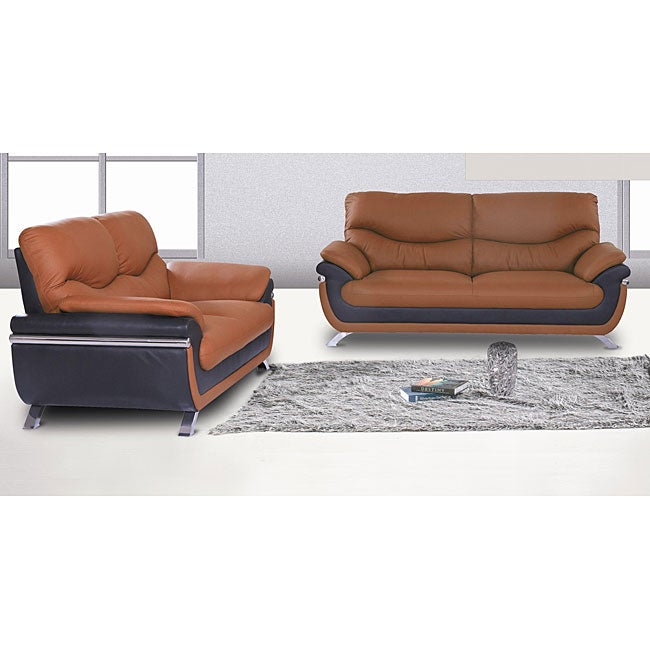 Alicia two tone modern sofa and loveseat set free shipping today