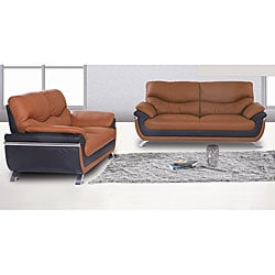 Alicia Two-tone Modern Sofa and Loveseat Set