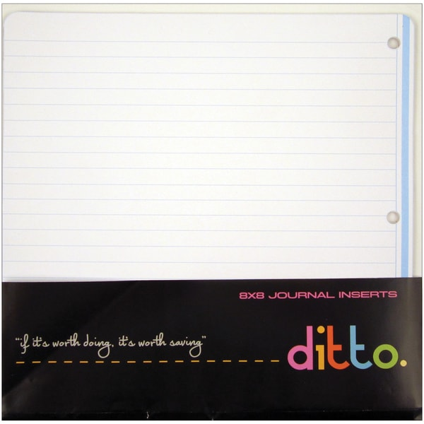 "Ditto Journaling Refill Pages 8""X8"" 12/Sheets"