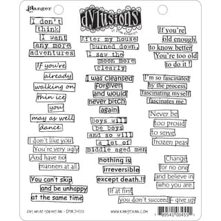Dyan Reaveley's Dylusions Cling Stamp Collection-Say What You Mean